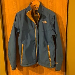 The north face jacket wind stopper in blue